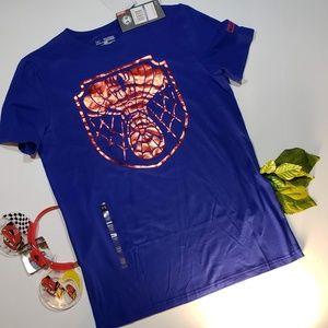3/$48 Under Armour Boys Blue Spider Man Shirt
